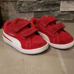 Puma Suede 2 Strap Sneakers Size 4c